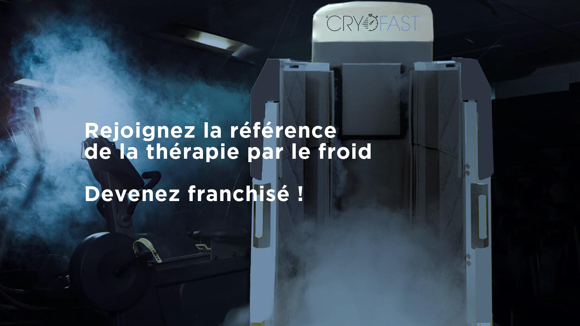 Cryosauna de cryothérapie Cryofast ouvert dans une salle de sport