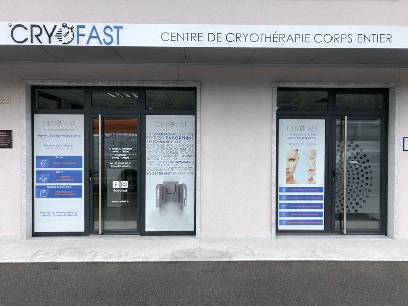 devanture du centre franchisé Cryofast de thonon les bains