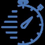 chrono bleu du logo cryofast pour les centres de cryotherapie ouverts ou en cours d'ouverture